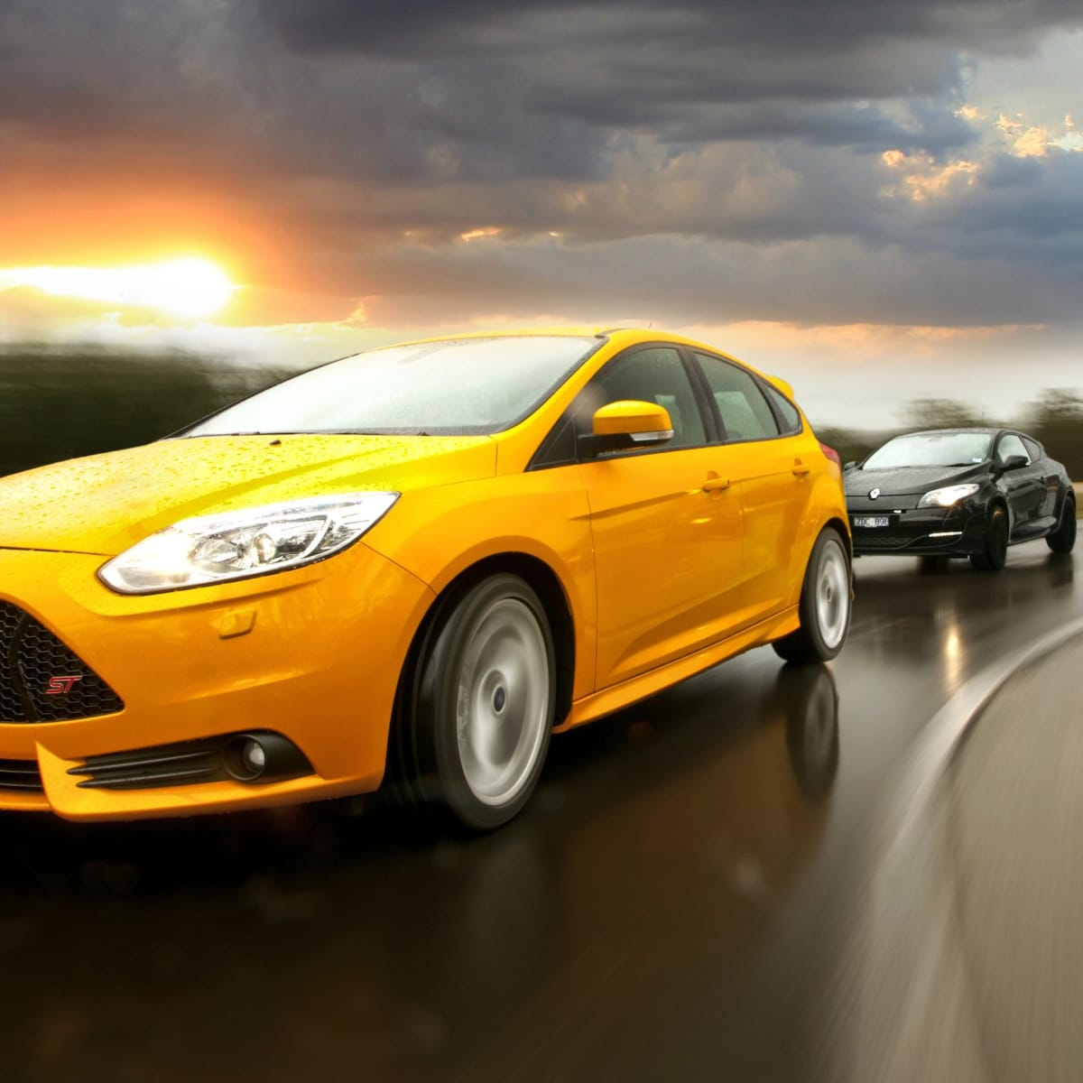 Ford Focus ST v Renault Megane RS265 v VW Golf GTI: Comparison