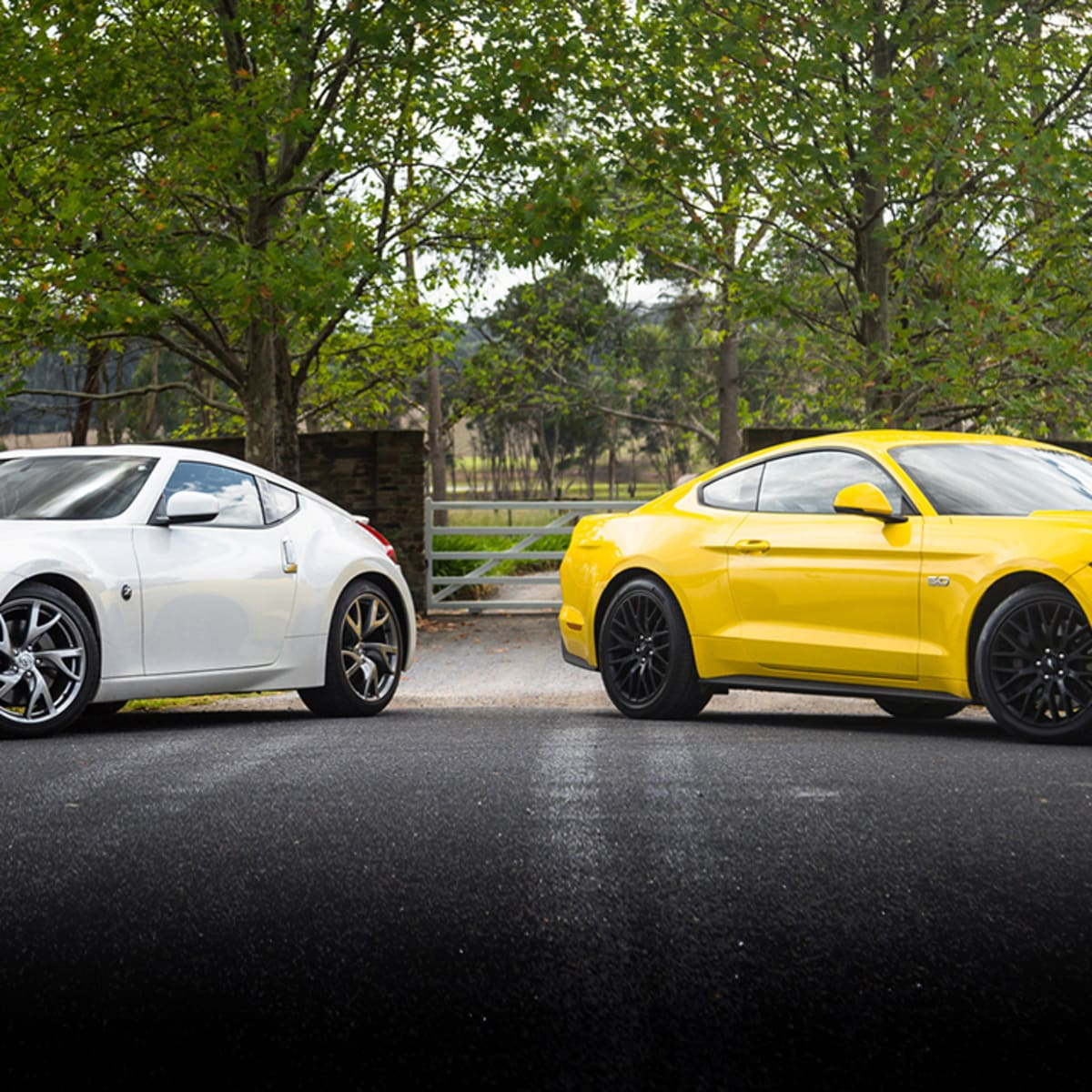 370Z 0 60 >> Ford Mustang Gt Fastback V Nissan 370z Coupe Comparison