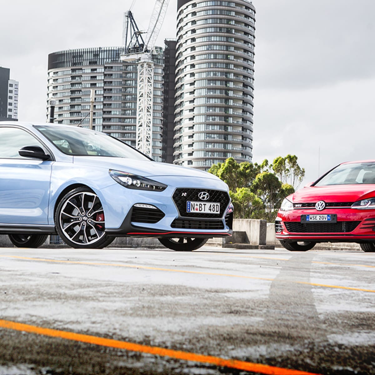 2018 Hyundai i30 N v Volkswagen Golf GTI 5-door comparison | CarAdvice