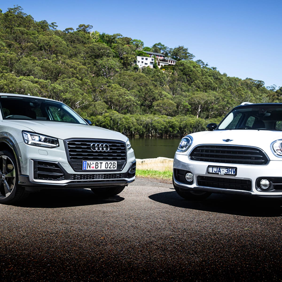 Audi Q2 1 4 TFSI v Mini Cooper Countryman comparison | CarAdvice