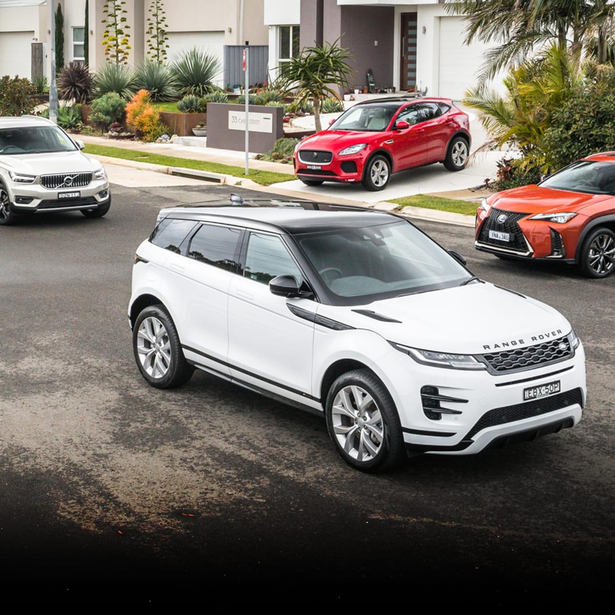 2019 Range Rover Evoque v Jaguar E-Pace v Lexus UX v Volvo XC40