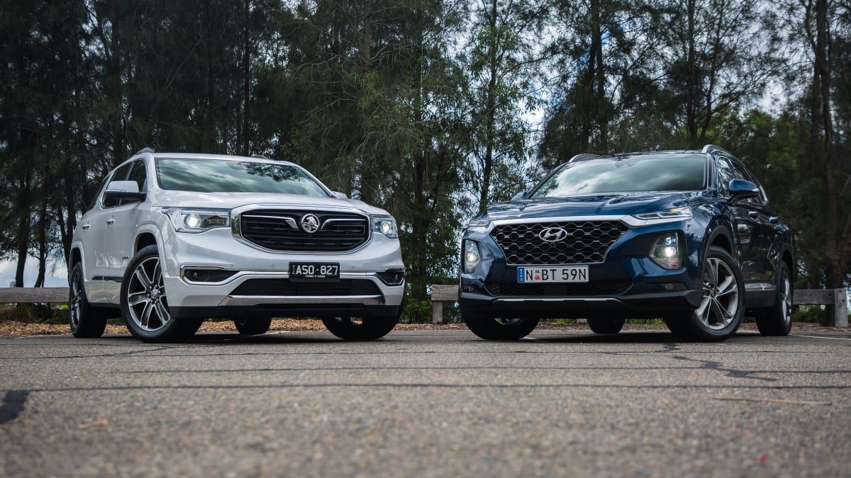 2019 Holden Acadia v Hyundai Santa Fe comparison | CarAdvice