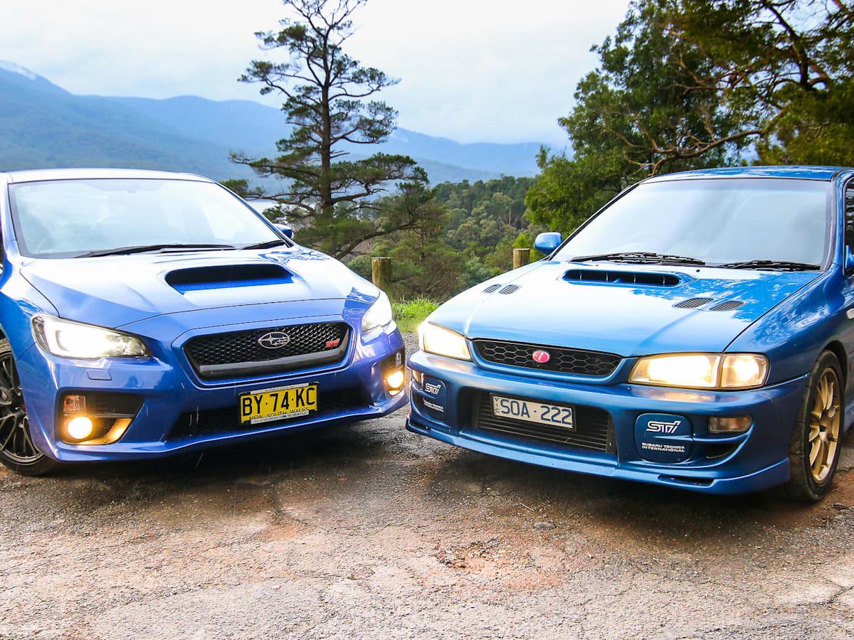 Subaru WRX STI Old v New Comparison: 2015 sedan v 1999 two