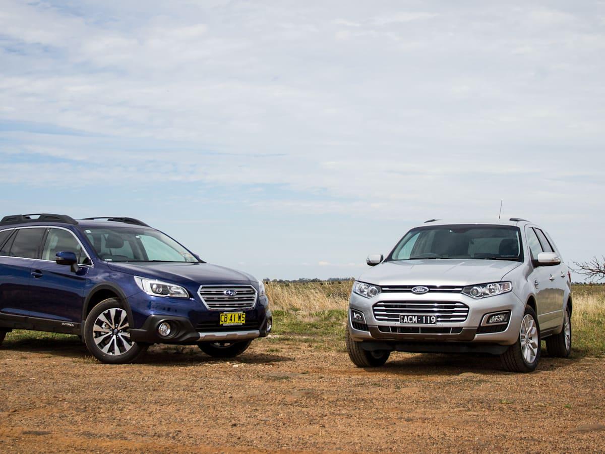 Ford Territory TS diesel v Subaru Outback 2 0D Premium : Comparison