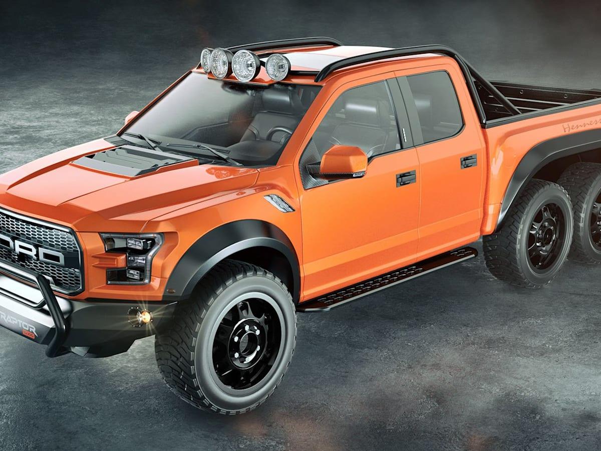 Hennessey Velociraptor 6x6 Ford F 150 Raptor Unveiled Caradvice