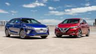 2020 Hyundai Ioniq Premium v Nissan Leaf comparison