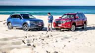 2019 Volkswagen Touareg v Toyota LandCruiser Prado Kakadu comparison