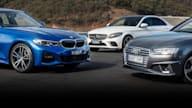 2019 BMW 330i v Audi A4 45 v Mercedes-Benz C300 comparison