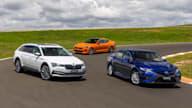 Video: Kia Stinger v Skoda Superb v Toyota Camry Hybrid - Drive Car of the Year 2021 Best Med/Large Car