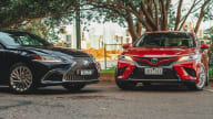 2020 Toyota Camry SL hybrid v Lexus ES300h Sports Luxury comparison