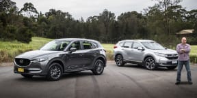 2020 Honda CR-V VTi-S AWD v Mazda CX-5 Maxx Sport AWD comparison