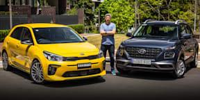 2020 Hyundai Venue Active v Kia Rio GT-Line comparison: compact SUV or light city car?