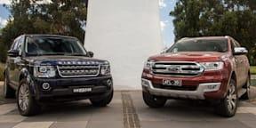 2016 Ford Everest Titanium v Land Rover Discovery 4 SDV6 comparison review