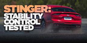 2018 Kia Stinger: Traction control test