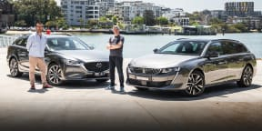 2020 Peugeot 508 GT v Mazda 6 Atenza comparison: wagon showdown