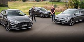 Best small crossover: Volkswagen Golf Alltrack v Ford Focus Active v Subaru XV