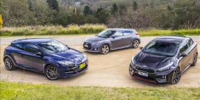 Sporty hatch comparison: Kia Procee`d GT v Hyundai Veloster SR Turbo v Renault Megane RS265 Sport