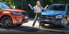 Video: 2020 Mercedes-Benz GLB250 v 2020 Land Rover Discovery Sport P250 R-Dynamic SE