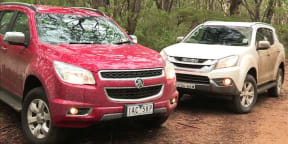 Isuzu MU-X v Holden Colorado 7 : Video review