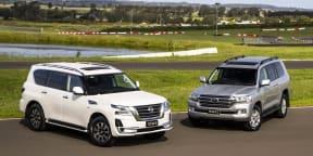 Video: Nissan Patrol v Toyota LandCruiser - Drive Car of the Year 2021 Best Upper Large SUV
