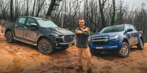 Video: Mazda BT-50 v Isuzu D-Max off-road comparison