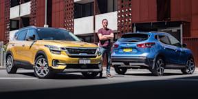 2019 Kia Seltos GT-Line v Nissan Qashqai Ti: compact SUV comparison