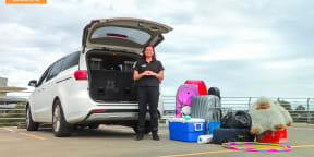 2015 Kia Carnival Mums vs Dads Challenge : Boot Tetris