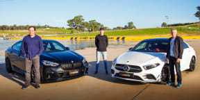 Video: 2020 BMW M235i Gran Coupe v Mercedes-AMG A35 sedan comparison