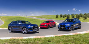 Video: Audi RSQ8 v BMW X5 M v Porsche Macan GTS - Drive Car of the Year 2021 Best Performance SUV