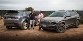2019 Land Rover Discovery Sport Si4 v Jeep Cherokee Trailhawk comparison