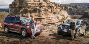 Toyota LandCruiser v Nissan Patrol off-road comparison