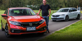 2019 Skoda Octavia Sport v Honda Civic RS: small sedan comparison