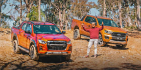 Video: 2021 Isuzu D-Max X-Terrain v Ford Ranger Wildtrak off-road comparison