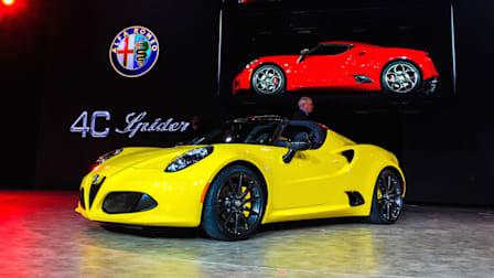 Alfa Romeo 4C Spider First Look : NAIAS Detroit Motor Show 2015