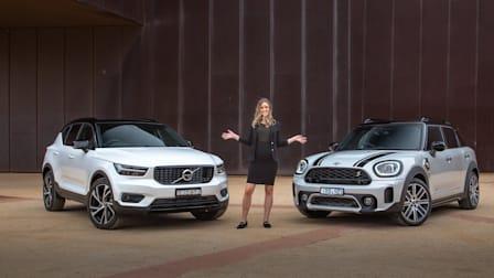 Video: 2021 Mini Countryman Hybrid v Volvo XC40 Recharge Comparison