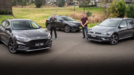 Best small crossover: Volkswagen Golf Alltrack v Ford Focus Active v Subaru XV