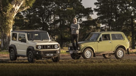 Video: Suzuki Jimny v Lada Niva – flex comparison and tug-of-war