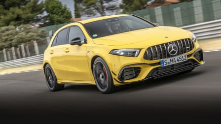 2020 Mercedes-AMG A45 S track test: video review