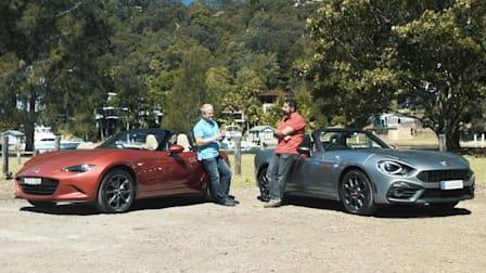 Abarth 124 Spider v Mazda MX-5 comparison