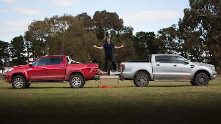 Video: 2020 Ford Ranger v Toyota Hilux... Tug o' War!