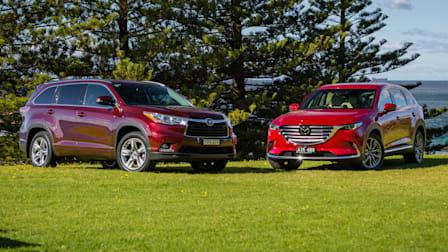 Mazda CX-9 Azami v Toyota Kluger Grande comparison