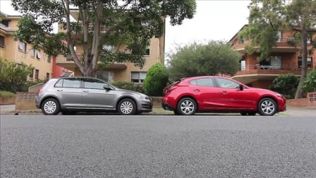 Mazda 3 Neo v Volkswagen Golf 90TSI Video Comparison Review