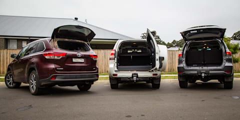 Toyota SUV comparison: Fortuner v Kluger v Prado