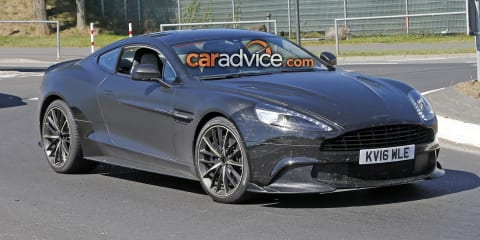 2017 Aston Martin Vanquish S spied at the Nurburgring