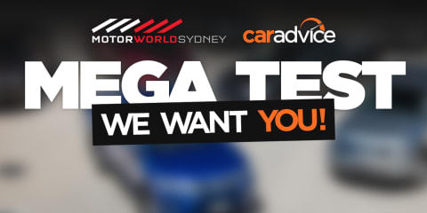 Join the CarAdvice Double Mega Test at Motorworld Sydney: Help us test the cars and give us your opinion