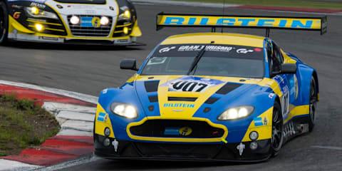 Aston Martin V12 Vantage GT3 leading Nurburgring 24 Hours