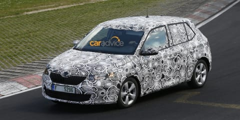 2015 Skoda Fabia spied during testing