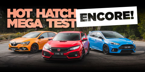 2019 Renault Megane RS v Civic Type R and Focus RS: Hot hatch encore!