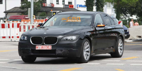 2013 BMW 7 Series facelift spy shots