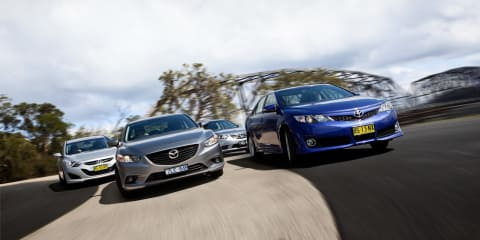 Medium car comparison: Mazda 6 v Toyota Camry v Honda Accord Euro v Hyundai i40